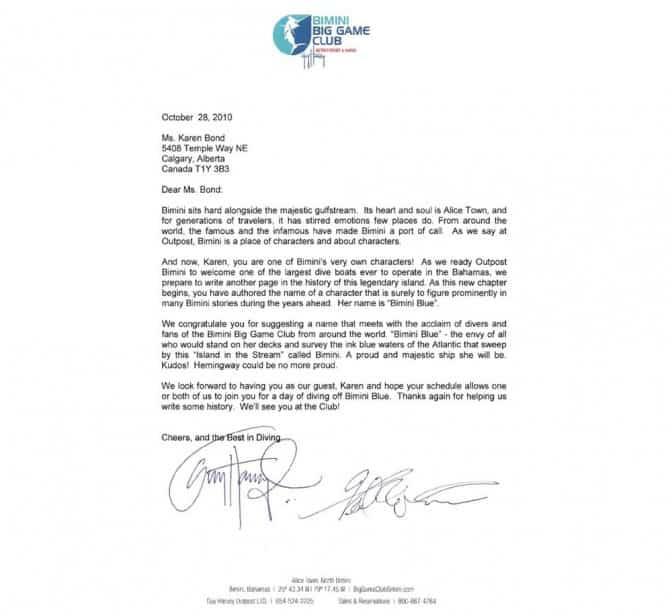 Bond Letter
