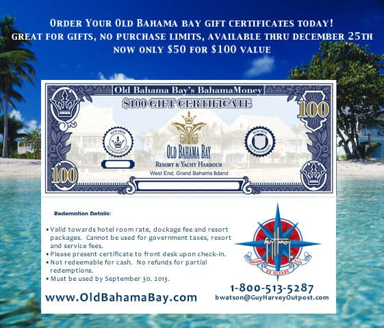 Old Bahama Bay's Bahama Money